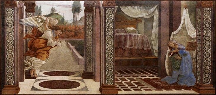 The Annunciation of San Martino alla Scala (1481), Sandro Botticelli. Galleria degli Uffizi, Florence