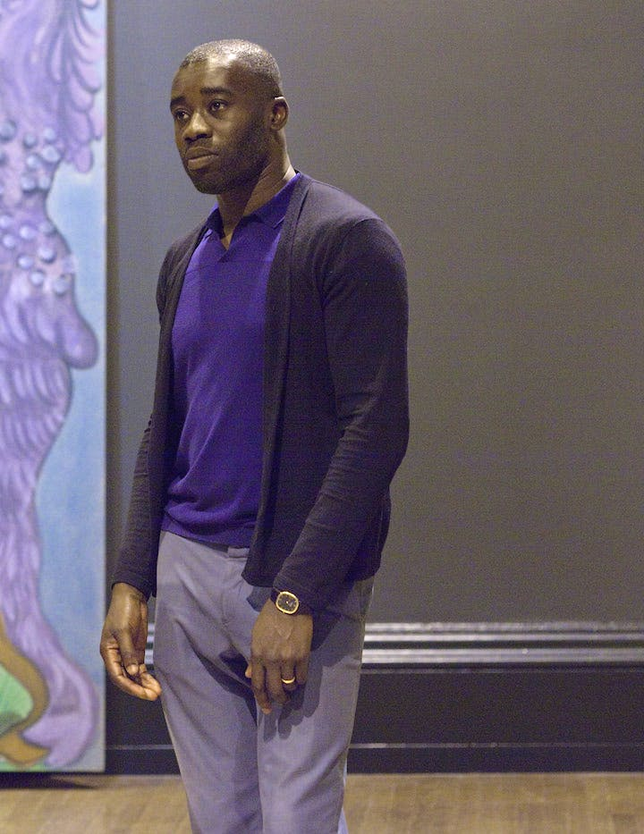 Chris Ofili at the National Gallery, London, 2012. © The National Gallery, London
