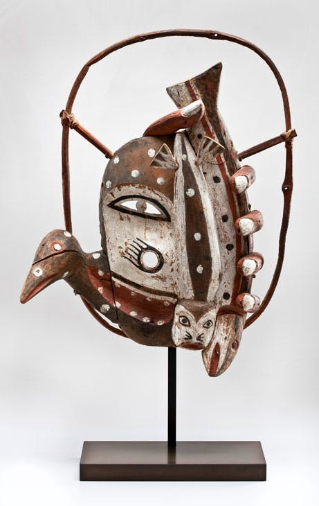 Dance Mask (c. 1900), unrecorded artist, Yup'ik, Alaska. Promised gift of Charles and Valerie Diker. Photo: Dirk Bakker