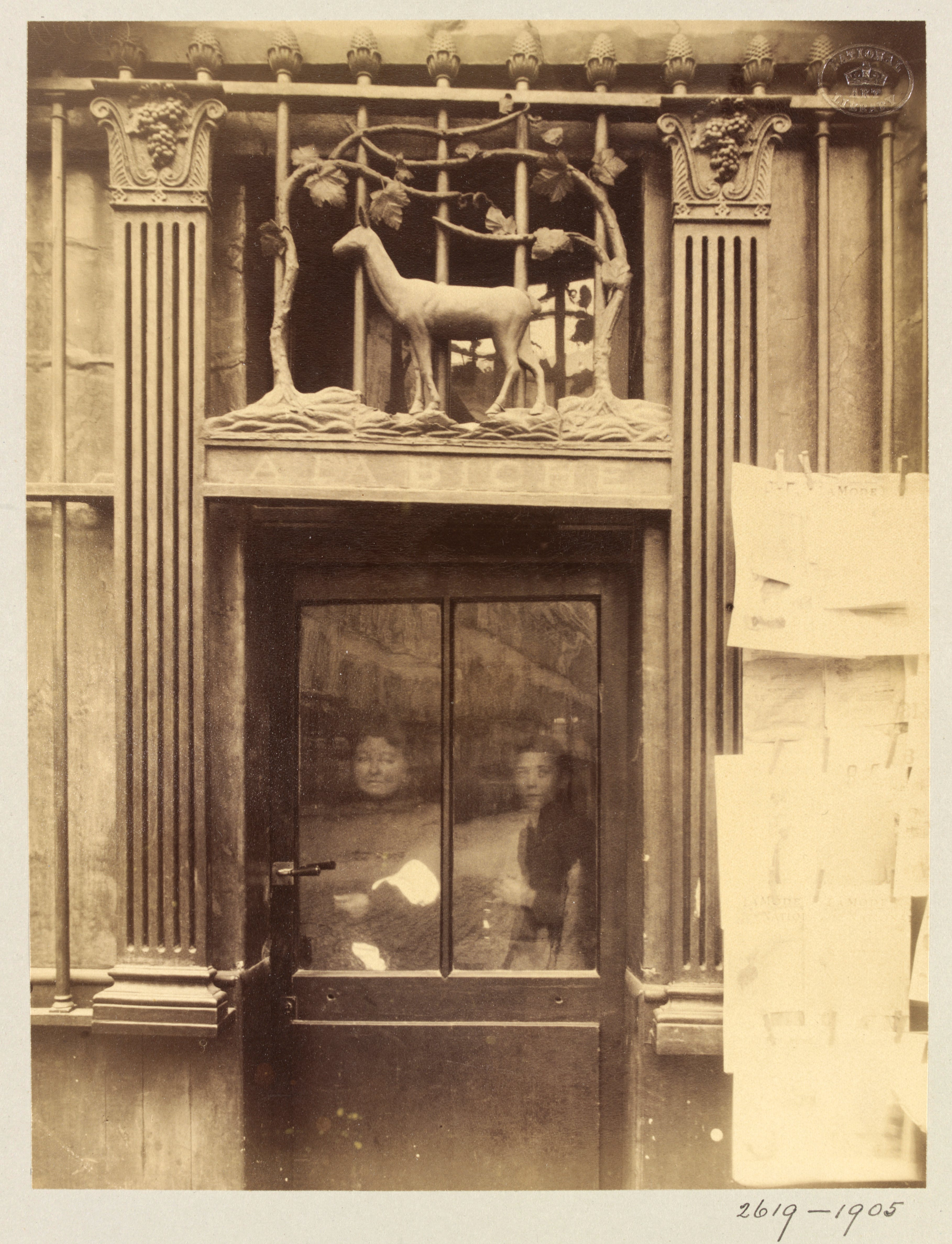 Shop sign, rue Geoffroy-St-Hilaire, Paris, (c. 1900), Eugène Atget, © Victoria and Albert Museum