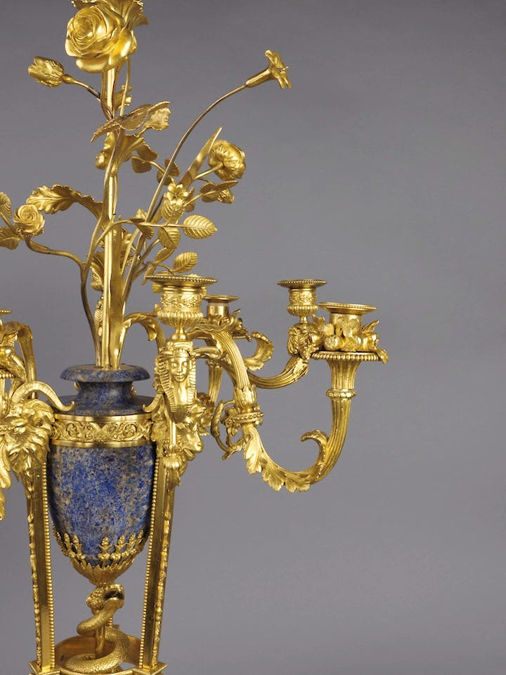 Detail of a Candelabrum, possibly by François Rémond, produced in 1783–86. Courtesy The Wallace Collection
