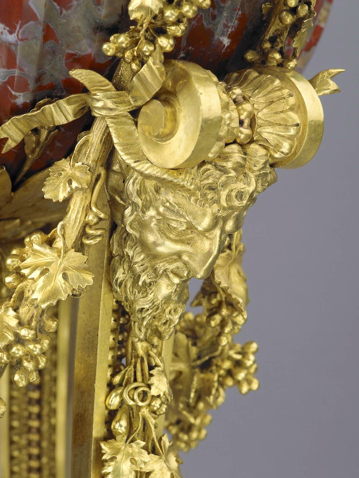 Detail of a Perfume Burner attributed to Pierre Gouthière, produced in 1774–75. Courtesy The Wallace Collection