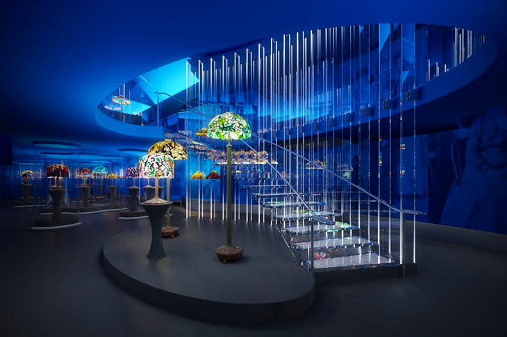 Rendering of glass staircase in the Tiffany Gallery, Fourth Floor, New-York Historical Society. Courtesy Eva Jiřičná Architects