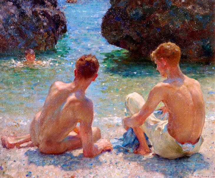 The Critics (1927), Henry Scott Tuke. Warwick District Council (Leamington Spa, UK)