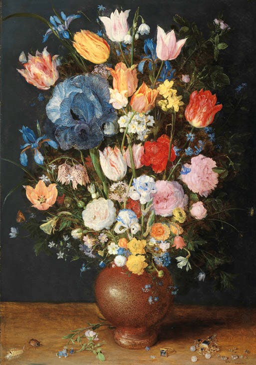 A Stoneware Vase of Flowers (c. 1607–08), Jan Brueghel the Elder. Fitzwilliam Museum, Cambridge