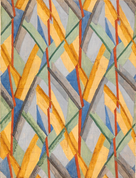 Design for Omega Workshops Fabric (1913), Vanessa Bell. Yale Center for British Art, New Haven