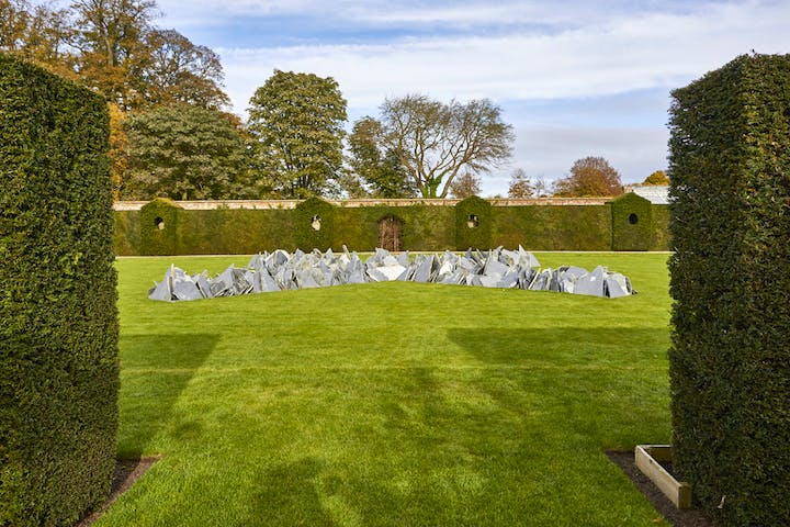 Installation view of Houghton Cross by Richard Long, 2003. © Pete Huggins