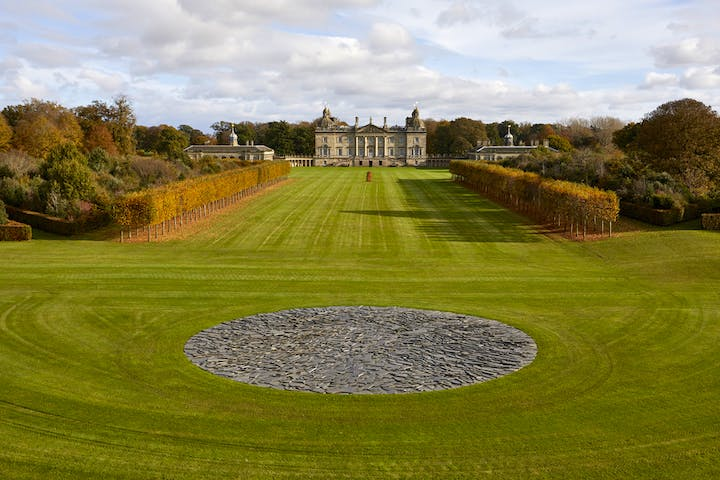 Installation view of Full Moon Circle by Richard Long, 2003. © Pete Huggins