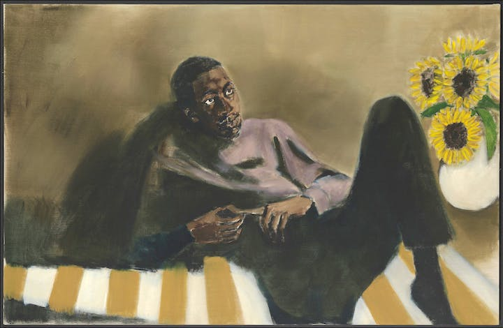 Butter In The Eaves (2016), Lynette Yiadom-Boakye. Courtesy the artist; Corvi-Mora, London; and Jack Shainman Gallery, New York