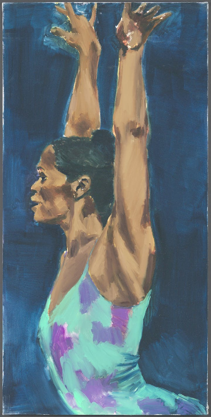 Tell The Air (2016), Lynette Yiadom-Boakye. Courtesy the artist; Corvi-Mora, London; and Jack Shainman Gallery, New York