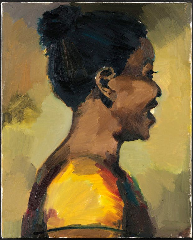 Crystals On The Mount (2016), Lynette Yiadom-Boakye. Courtesy the artist; Corvi-Mora, London; and Jack Shainman Gallery, New York