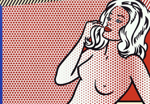 Nude Sunbathing (detail; 1995), Roy Lichtenstein.