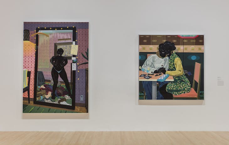 Installation view of 'Kerry James Marshall: Mastry' at the Museum of Contemporary Art, Los Angeles. Photo: Brian Forrest