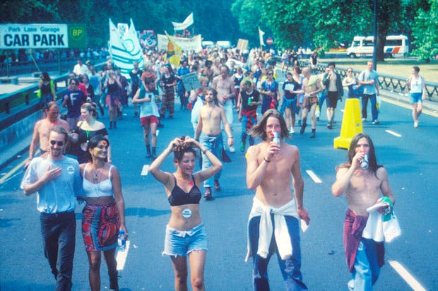 Anti Criminal Justice Act March, London (1994), Matthew Smith. Image courtesy Youth Club Archive