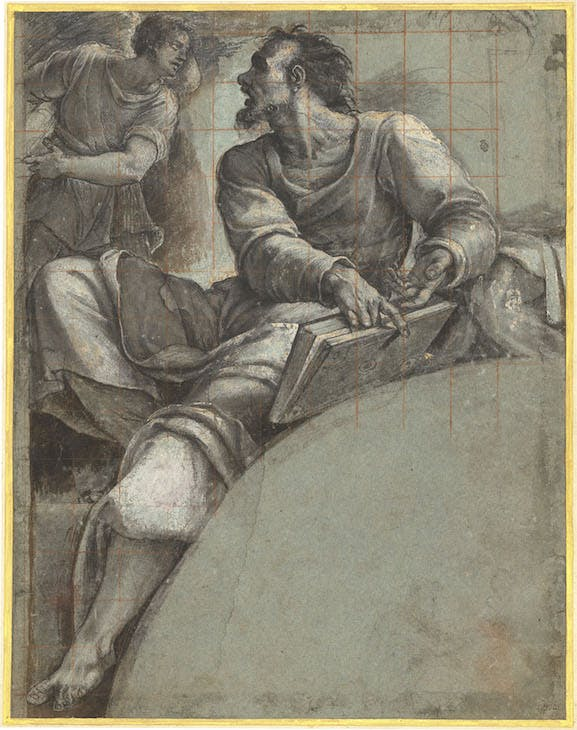 Study for the prophet Ezekiel, c. 1517, Sebastiano del Piombo. National Gallery of Art, Washington, D.C.