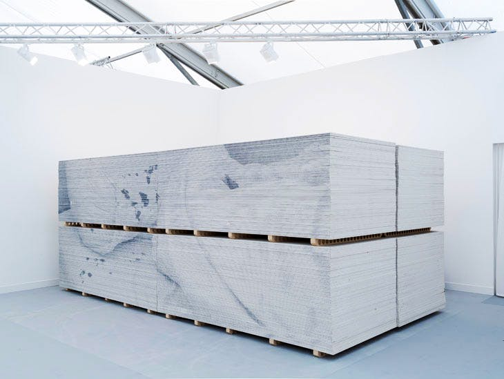 Marsh Lane Diversion by Rob Chavasse, installed at Frieze London in 2016