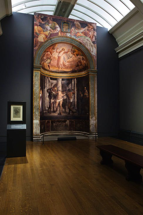 Borgherini Chapel reconstruction by Factum Arte, installation view, National Gallery, London