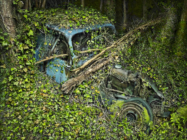 Citroën traction 7 (from the series Paradise Parking, 2012), Peter Lippmann. © Peter Lippmann