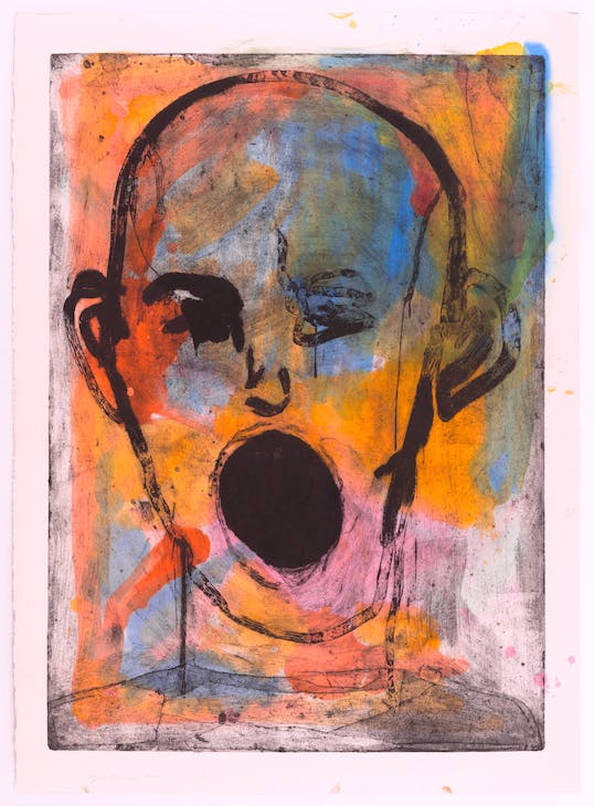 Poet Singing Beautifully (2016), Jim Dine. Courtesy the artist and Alan Cristea Gallery, London
