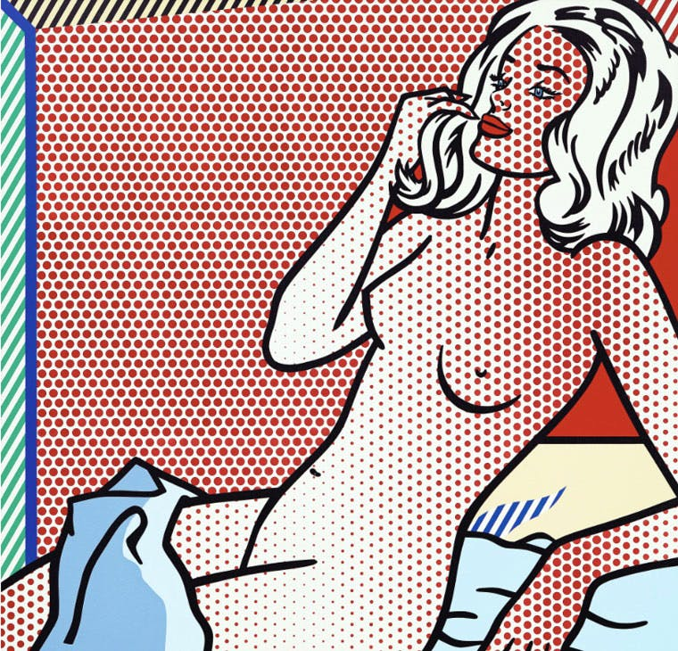 Nude Sunbathing (1995), Roy Lichtenstein