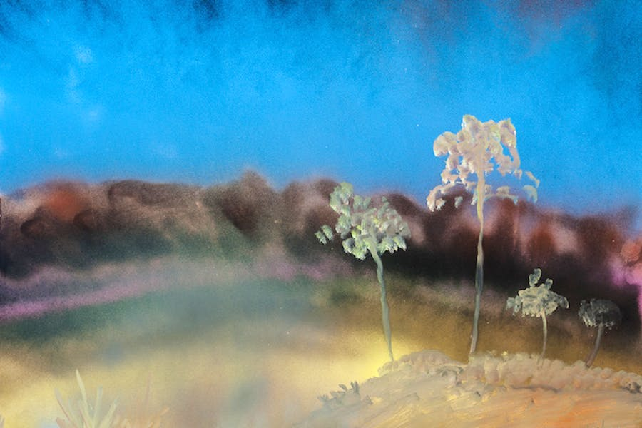 Gum Trees (c. 1983), Sidney Nolan. Courtesy of the Sidney Nolan Trust