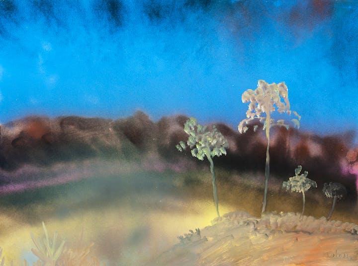 Gum Trees (c. 1983), Sidney Nolan. Courtesy of the Sidney Nolan Trust