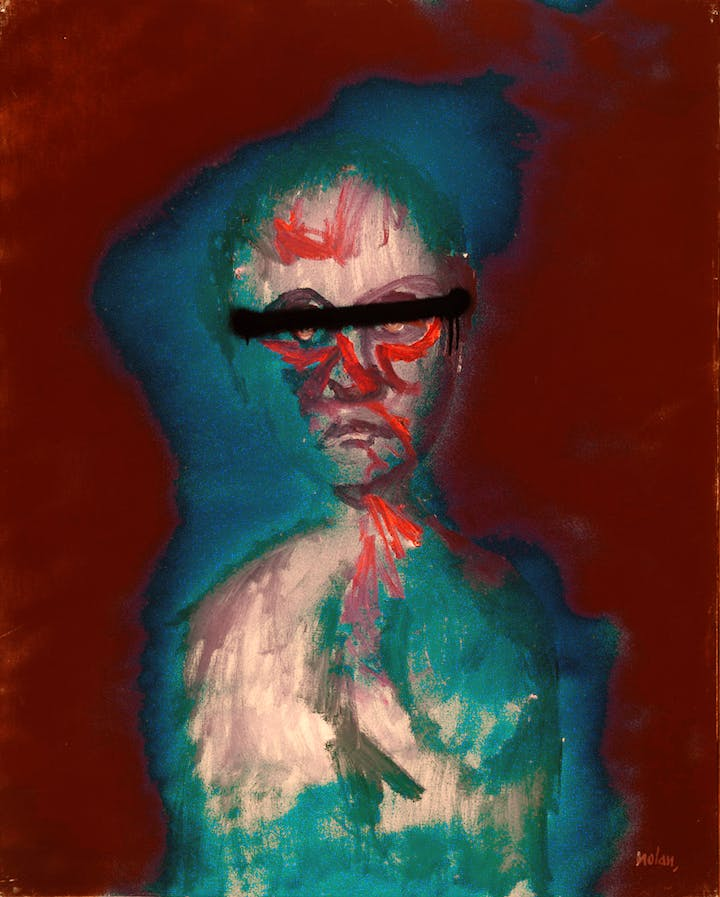 Head (c. 1988), Sidney Nolan. Courtesy of the Sidney Nolan Trust