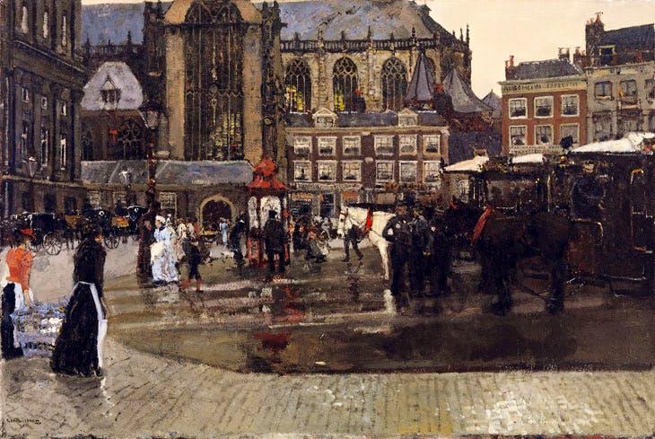 De Dam (De Nieuwe Kerk te Amsterdam) (1891), George Hendrick Breitner. Singer Laren