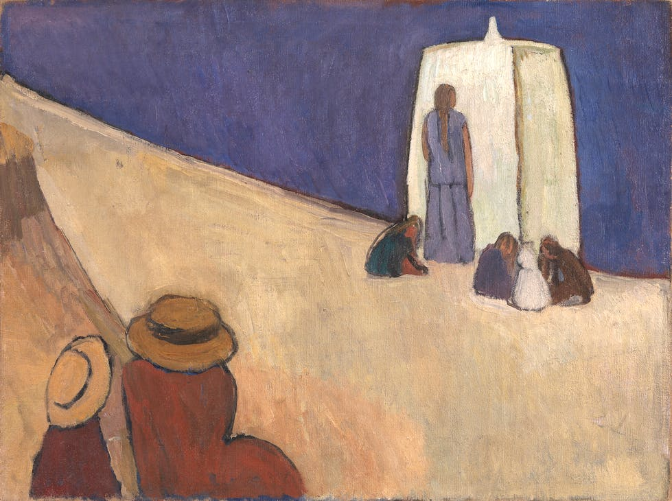 Studland Beach (c. 1912), Vanessa Bell. Tate, London. Photo: © Tate, London 2016; © The Estate of Vanessa Bell. courtesy of Henrietta Garnett
