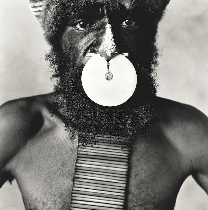 Tribesman with Nose Disc, New Guinea, 1970 (2002), Irving Penn. © The Irving Penn Foundation