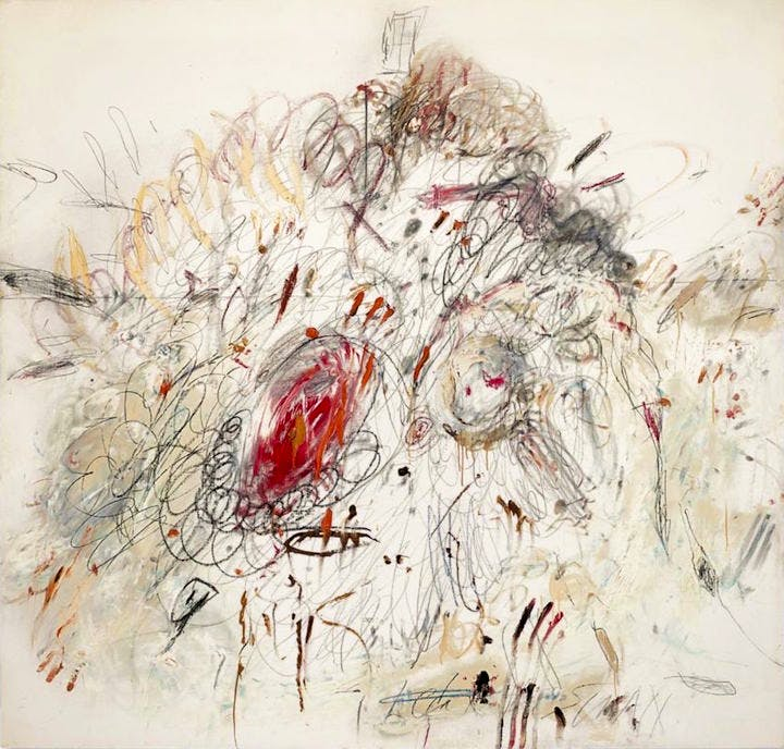 Leda and the Swan (1962), Cy Twombly. Sotheby's New York, estimate: $35–$55m