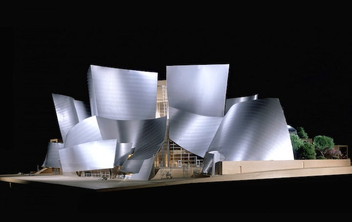 Model of the Walt Disney Concert Hall, (2003), Frank Gehry. © Frank O. Gehry