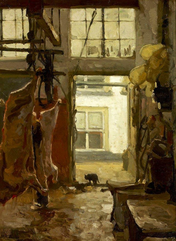 Slaughterhouse (1889), Willem Bastiaan Tholen. Groninger Museum