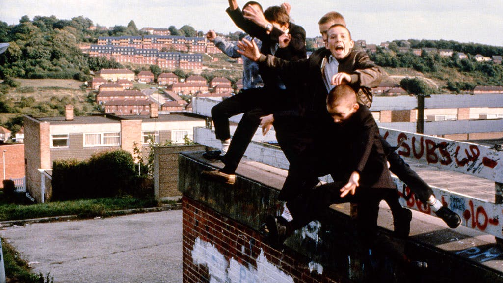 Jumping boys, High Wycombe (1980), Gavin Watson. Image courtesy Youth Club Archive