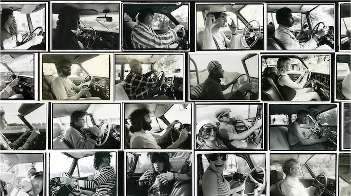 Photographs from the 'Driving' series. © Annie Leibovitz