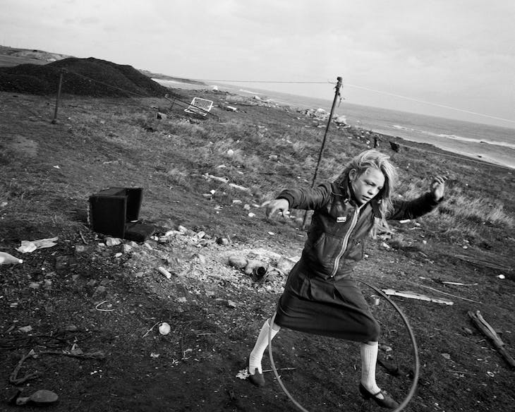 Helen and Her Hula-hoop, Lynemouth, Northumberland (1984; negative); (1985; print), Chris Killip. J. Paul Getty Museum, Los Angeles. Courtesy the artist.