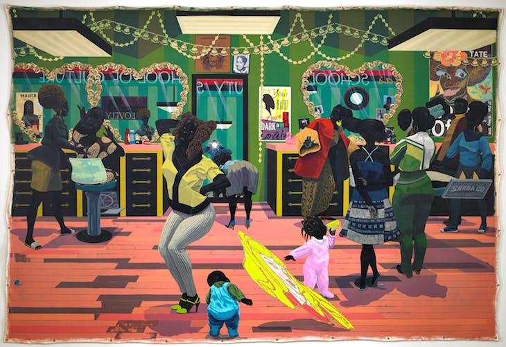 School of Beauty, School of Culture (2012), Kerry James Marshall. Birmingham Museum of Art. Photo: Sean Pathasema