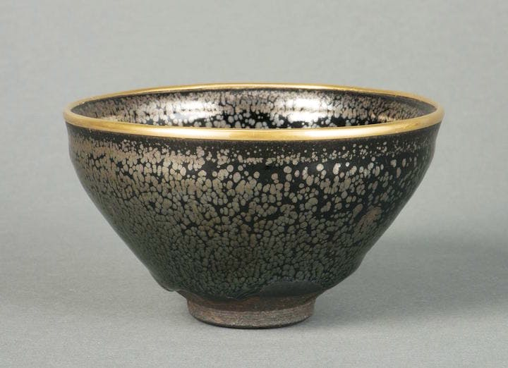 Tea bowl yuteki tenmoku type, China, Jian ware, 12th–13th century. The Museum of Oriental Ceramics, Osaka