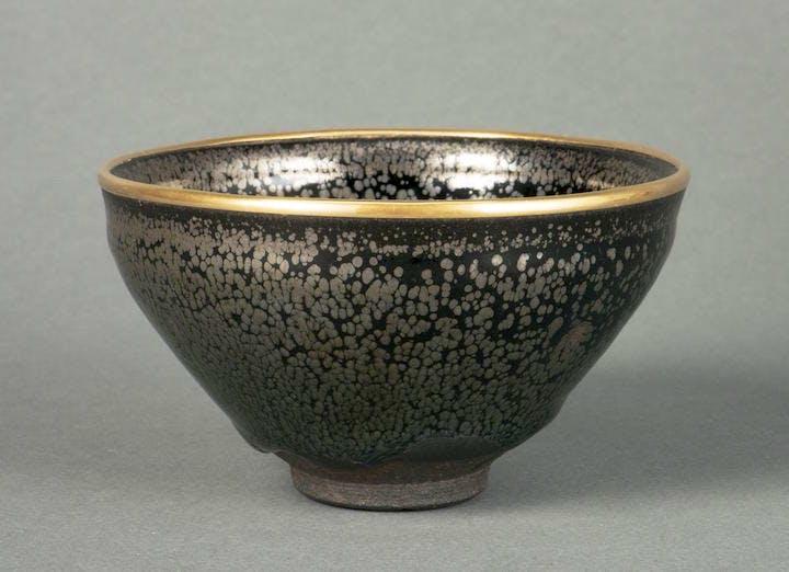 Tea bowl yuteki tenmoku type, China, Jian ware, 12th–13th century. The Museum of Oriental Ceramics, Osaka