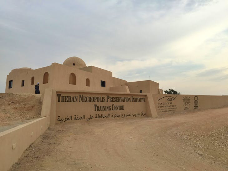 Stoppelaëre House, Luxor, built by Hassan Fathy, and now transformed into a training centre for the Theban Necropolis Preservation Initiative