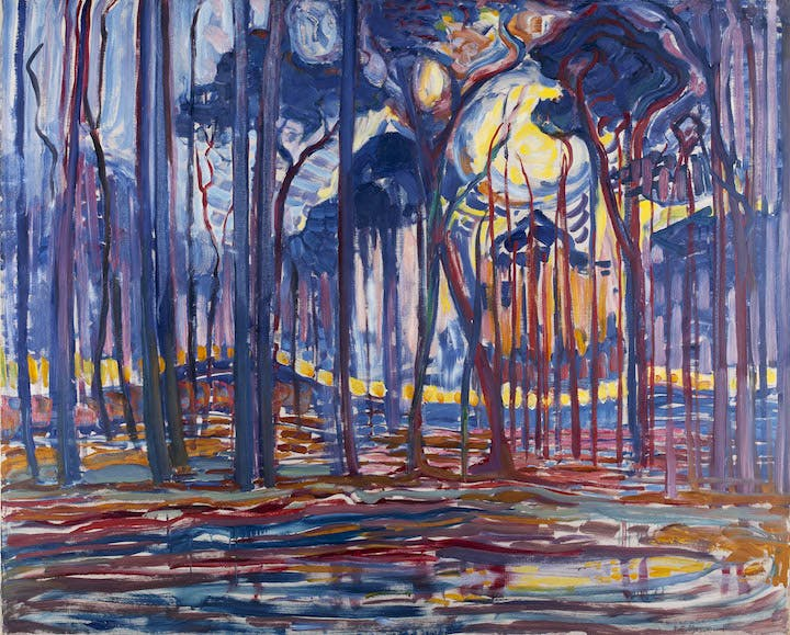 Woods near Oele (1908), Piet Mondrian. Courtesy of the Gemeentemuseum Den Haag