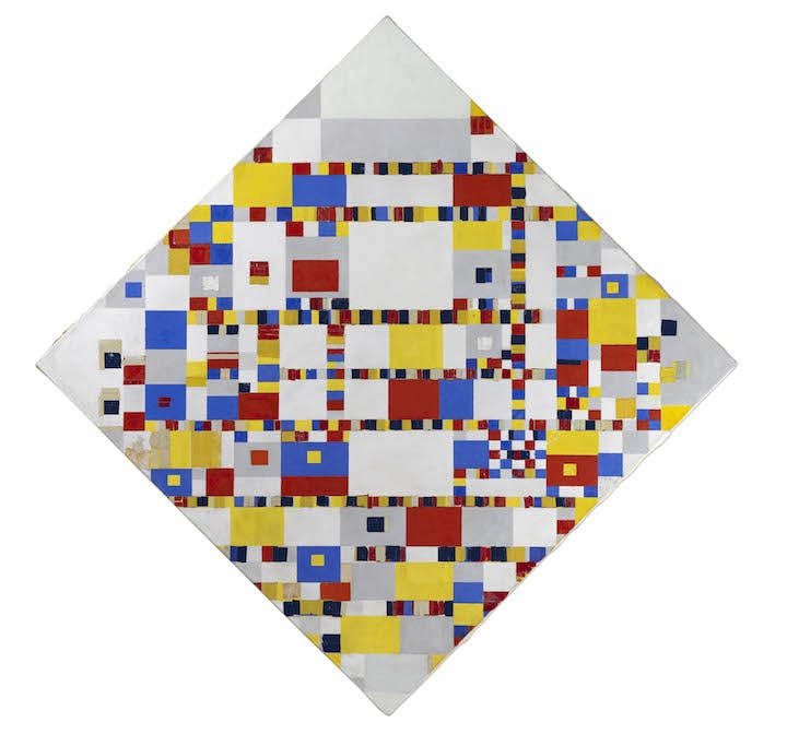 Victory Boogie Woogie (1942–44), Piet Mondrian. Courtesy of the Gemeentemuseum Den Haag