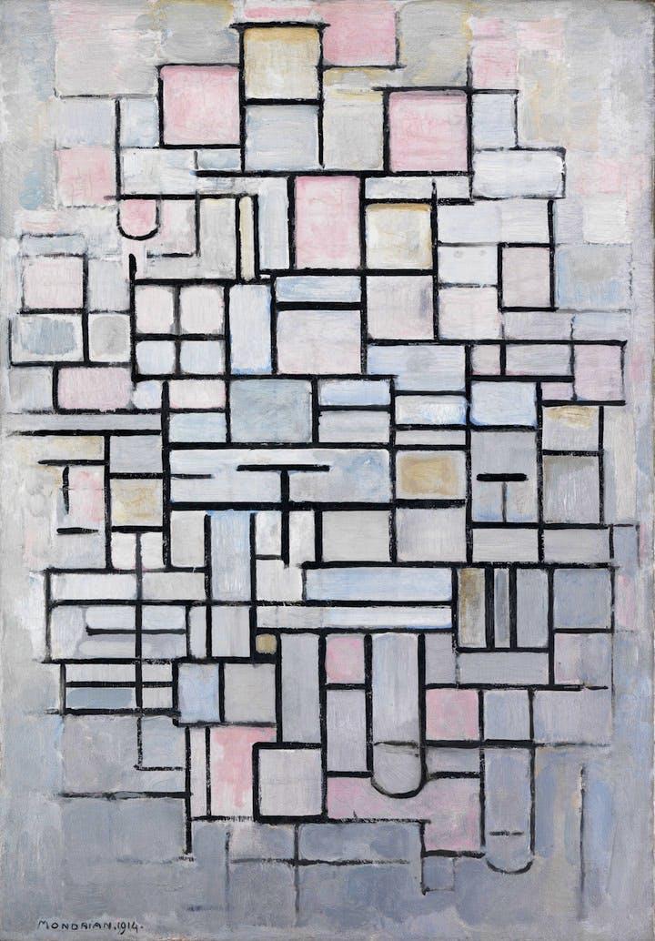 Composition No.IV (1914), Piet Mondrian. Courtesy of the Gemeentemuseum Den Haag