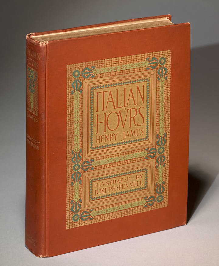 Italian Hours by Henry James published in 1909. Photo: Graham S. Haber, Courtesy of the Morgan Library & Museum