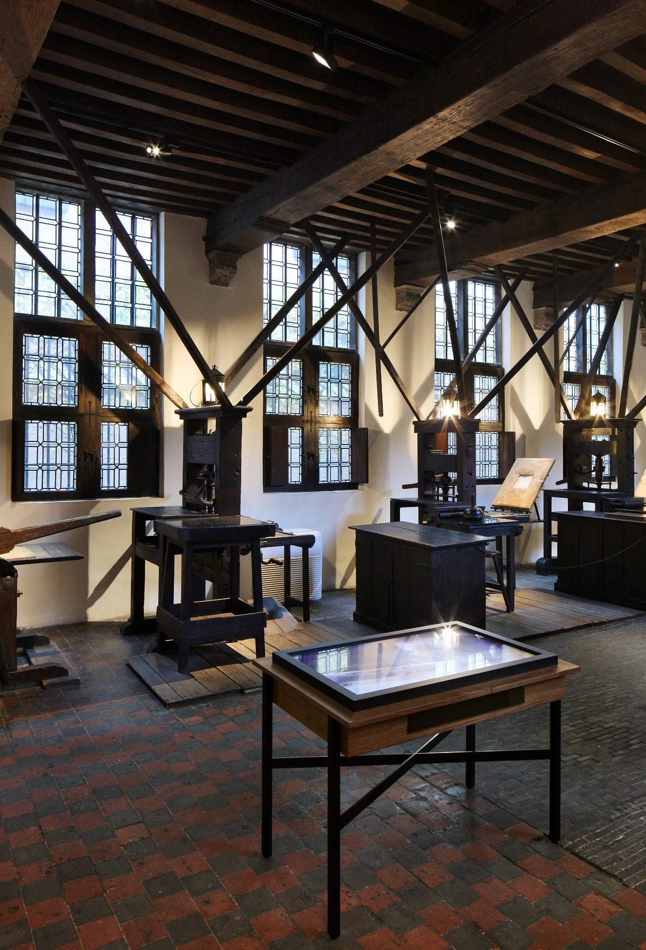Printing factory at the Plantin-Moretus Museum, photo: Filip Dujardin