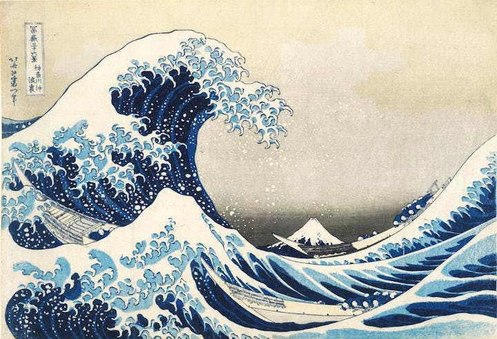 Under the wave off Kanagawa (The Great Wave) (1831), Hokusai. © The Trustees of the British Museum