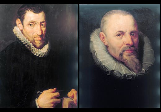 Portraits of Christophe Plantin (1616) and Jan I Moretus (1613/16) by Peter Paul Rubens, Plantin-Moretus Museum, Antwerp