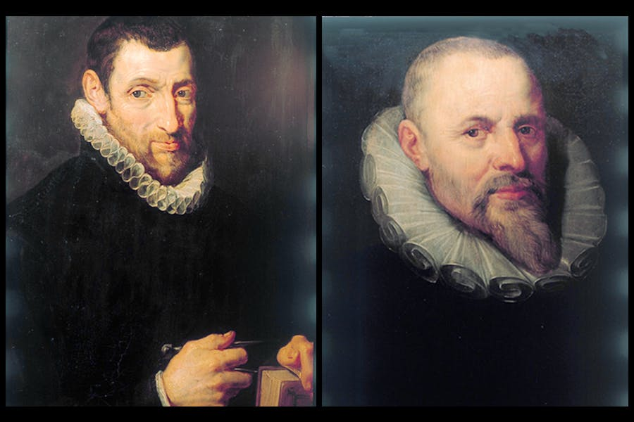 Portraits of Christophe Plantin (1616) and Jan I Moretus (1613/16) by Peter Paul Rubens, Plantin-Moretus Museum, Antwerp