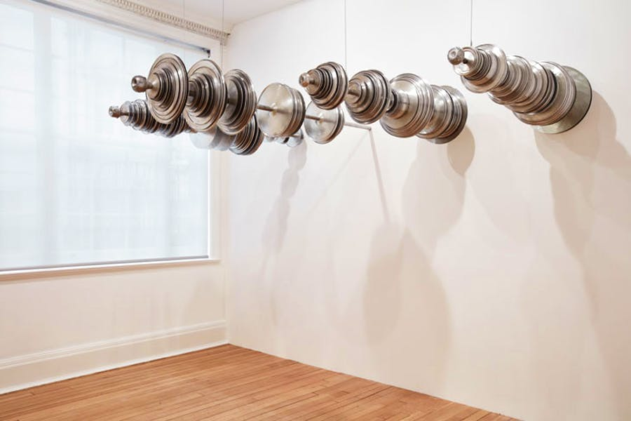 Solitude (2017), Terry Adkins. Installation view, Thomas Dane Gallery, London. Photo: Luke A. Walker