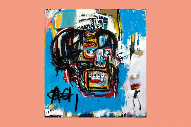Untitled, (1982) Jean-Michel Basquiat, courtesy Sotheby's, © 2017 The Estate of Jean-Michel Basquiat/ADAGP, Paris/ARS